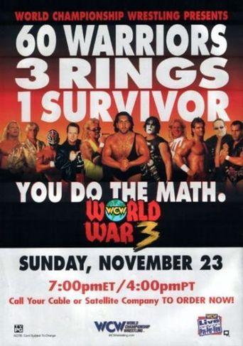 WCW World War 3 1997 Poster