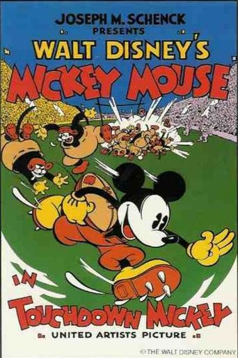 Touchdown Mickey Poster