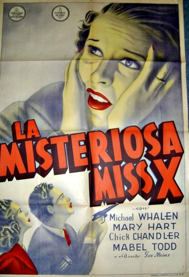 The Mysterious Miss X Poster