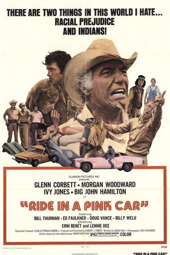 Ride in a Pink Car Poster