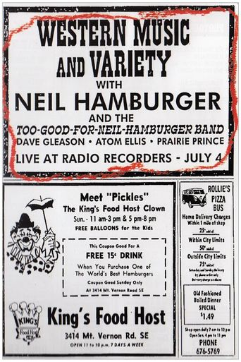 Neil Hamburger: Western Music and Variety Poster