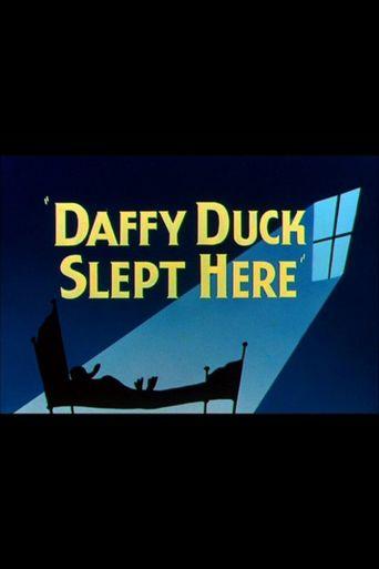 Daffy Duck Slept Here Poster