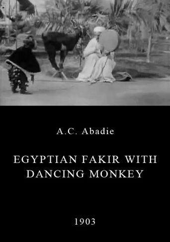 Egyptian Fakir with Dancing Monkey Poster