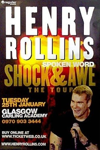 Henry Rollins: Shock and Awe Poster
