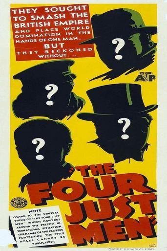 The Four Just Men Poster