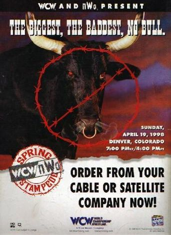 WCW Spring Stampede 1998 Poster