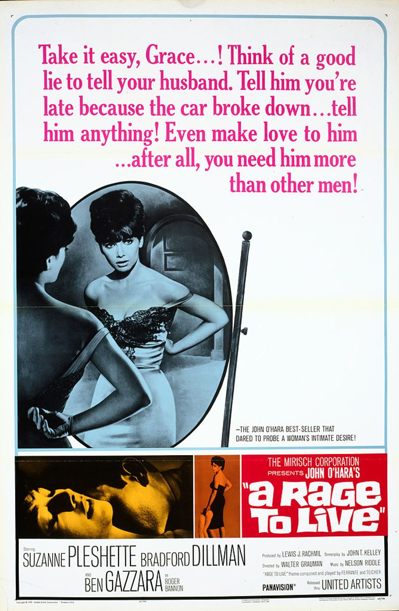 A Rage to Live Poster