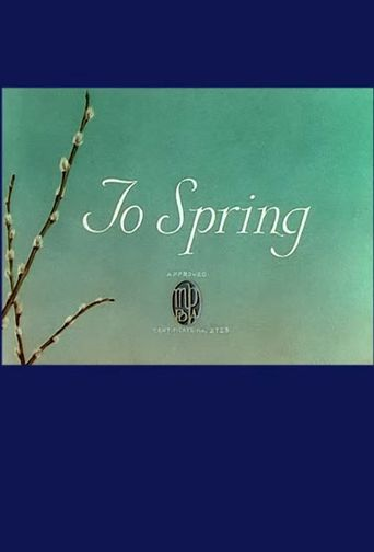 To Spring Poster