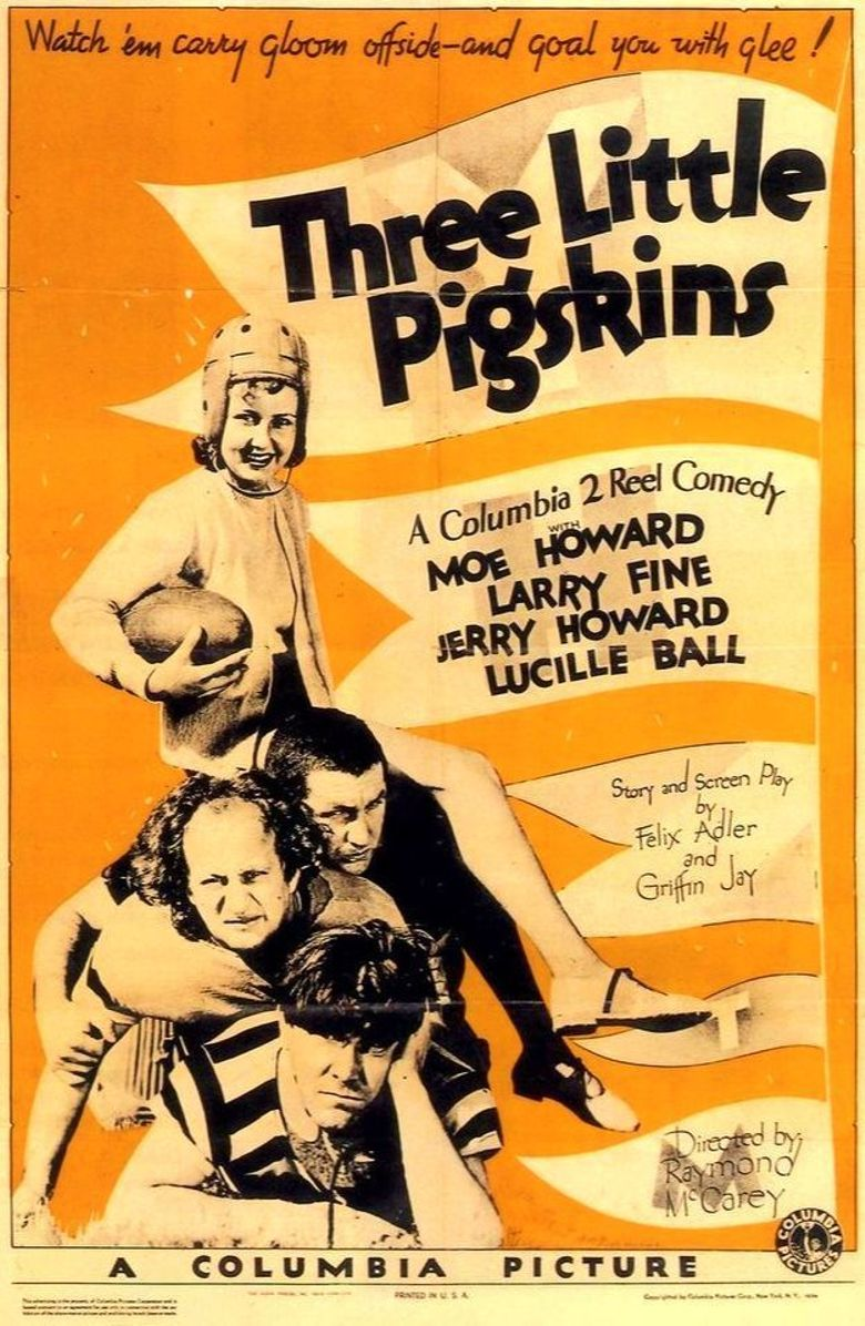 Three Little Pigskins Poster