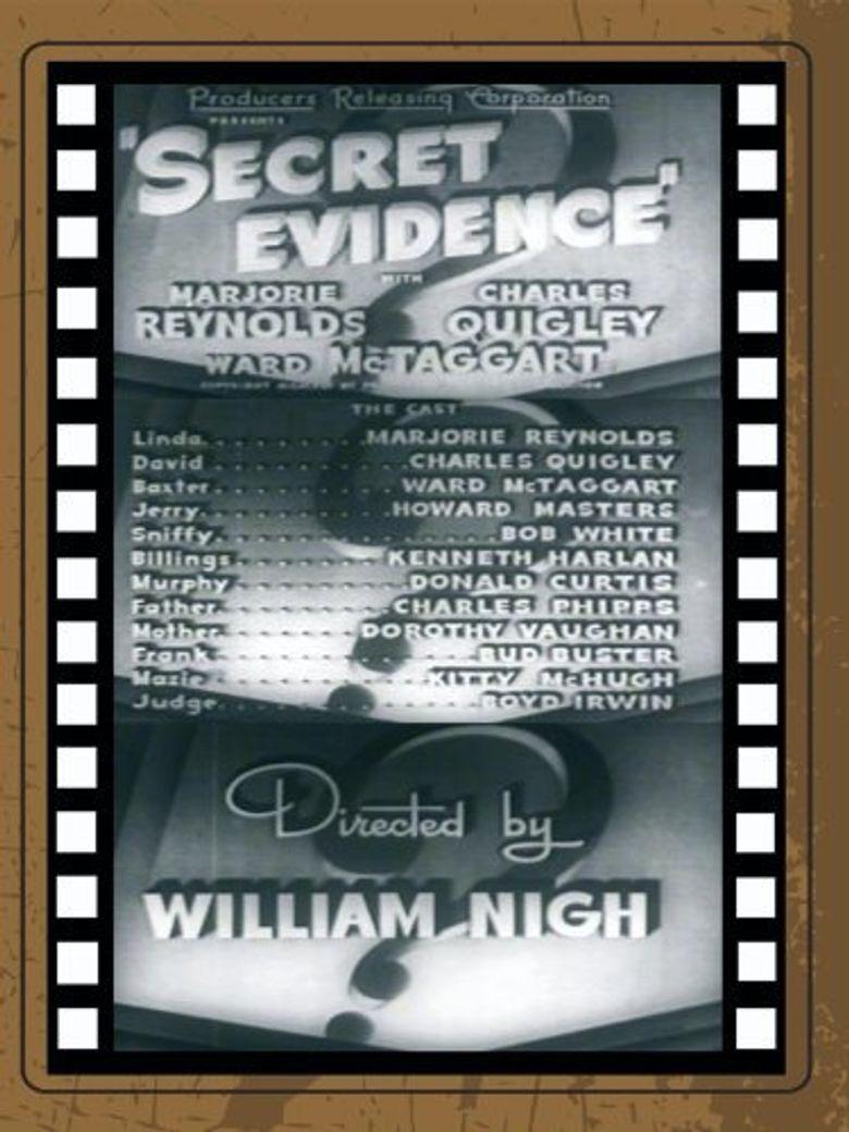 Secret Evidence Poster