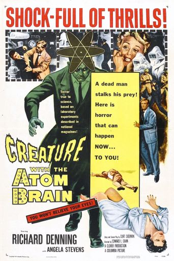 Creature with the Atom Brain Poster