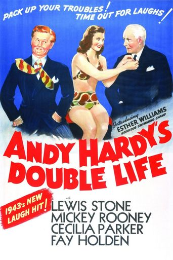 Andy Hardy's Double Life Poster