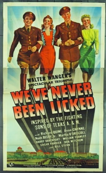 We've Never Been Licked Poster