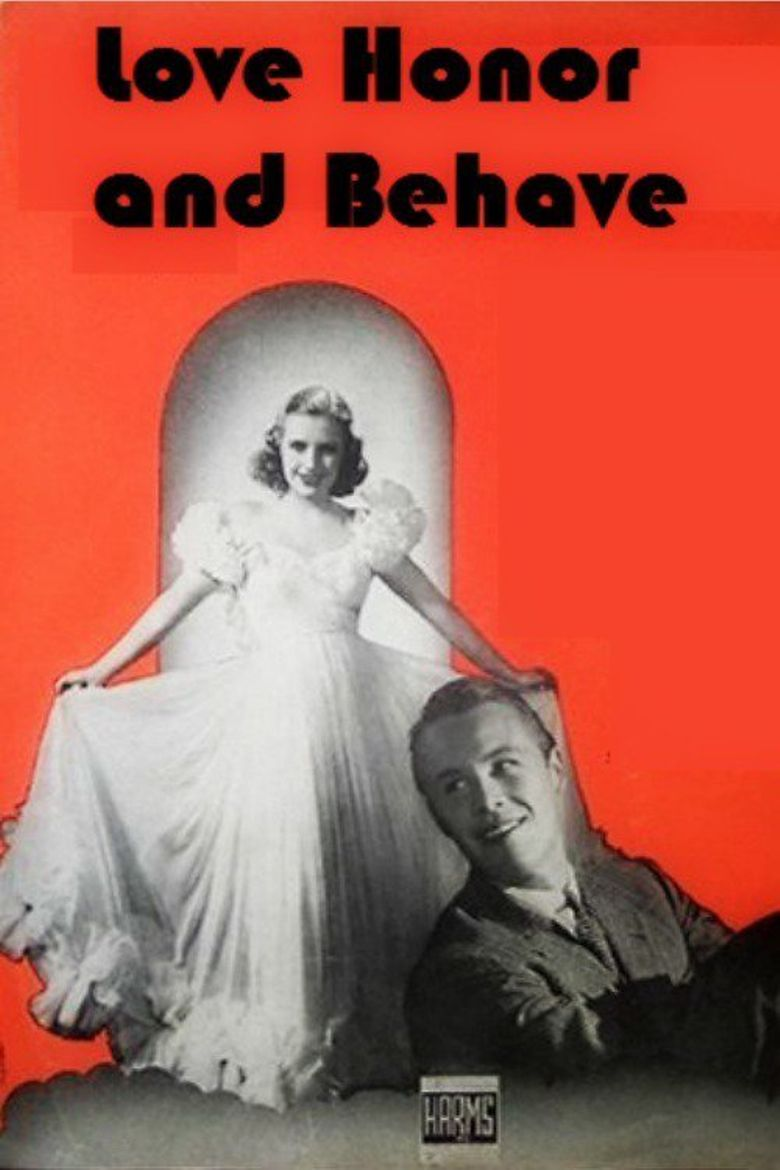 Love, Honor and Behave Poster