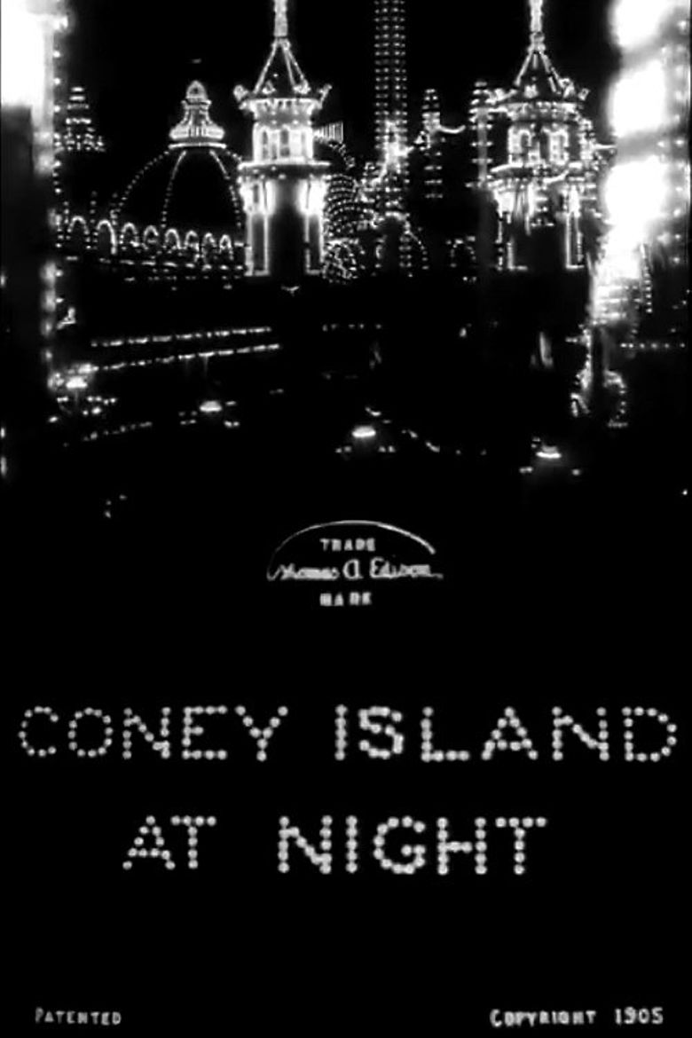 Coney Island at Night Poster