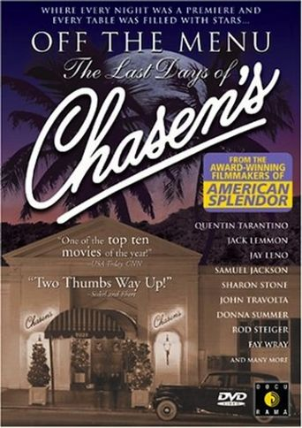 Off the Menu: The Last Days of Chasen's Poster