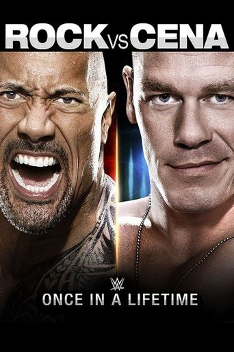 WWE: The Rock vs John Cena: Once in a Lifetime Poster