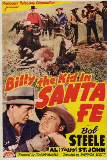 Billy the Kid in Santa Fe Poster