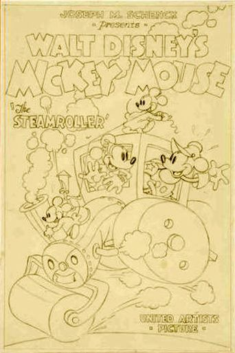 Mickey's Steam Roller Poster