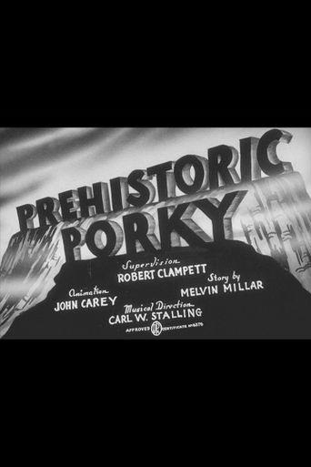Prehistoric Porky Poster