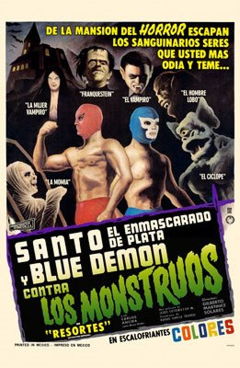 Santo and Blue Demon Against the Monsters Poster