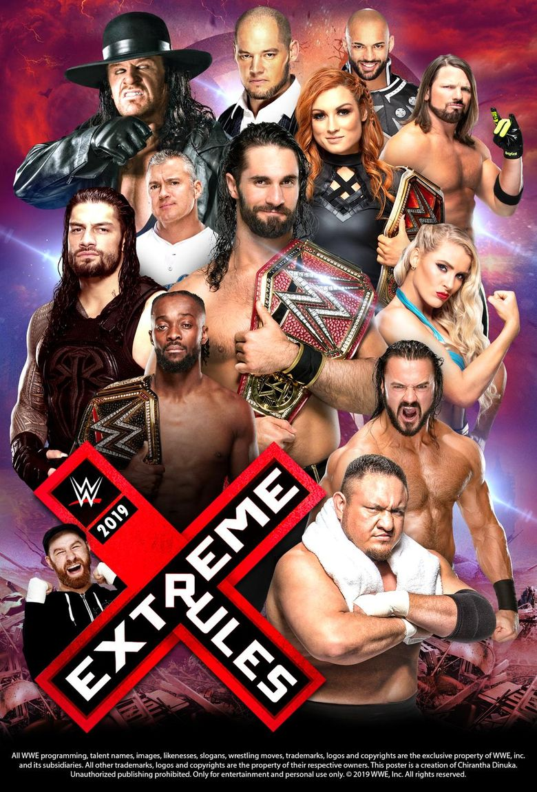 WWE Extreme Rules 2019 Poster