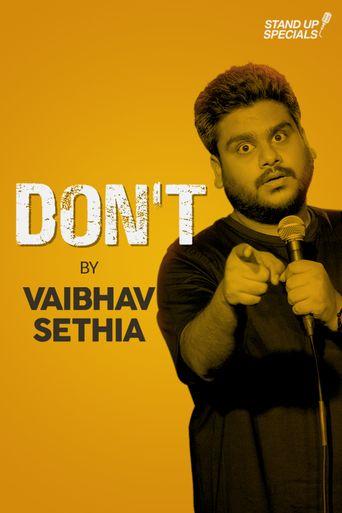 Vaibhav Sethia: Don't Poster