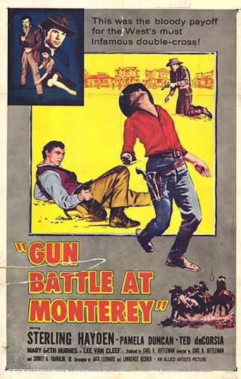 Gun Battle at Monterey Poster