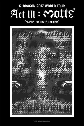 Kwon Ji Yong (권지용) Act III: Motte Poster