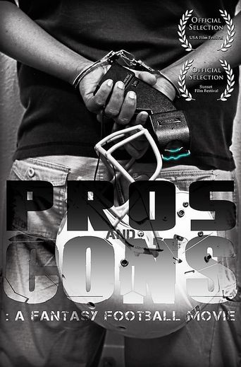 Pros and Cons: A Fantasy Football Movie Poster