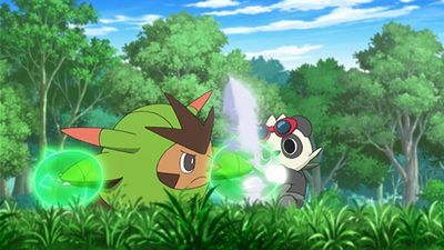 Season 19, Episode 02 Love Strikes! Eevee, Yikes!