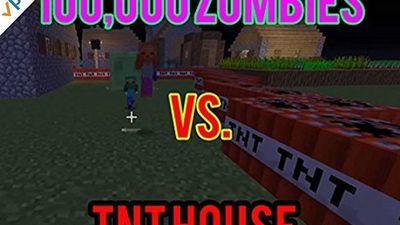 Season 03, Episode 01 100,000 Zombies vs. TNT House in Minecraft!