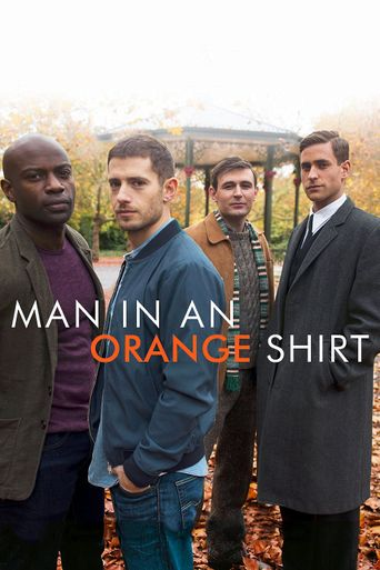 Man in an Orange Shirt Poster