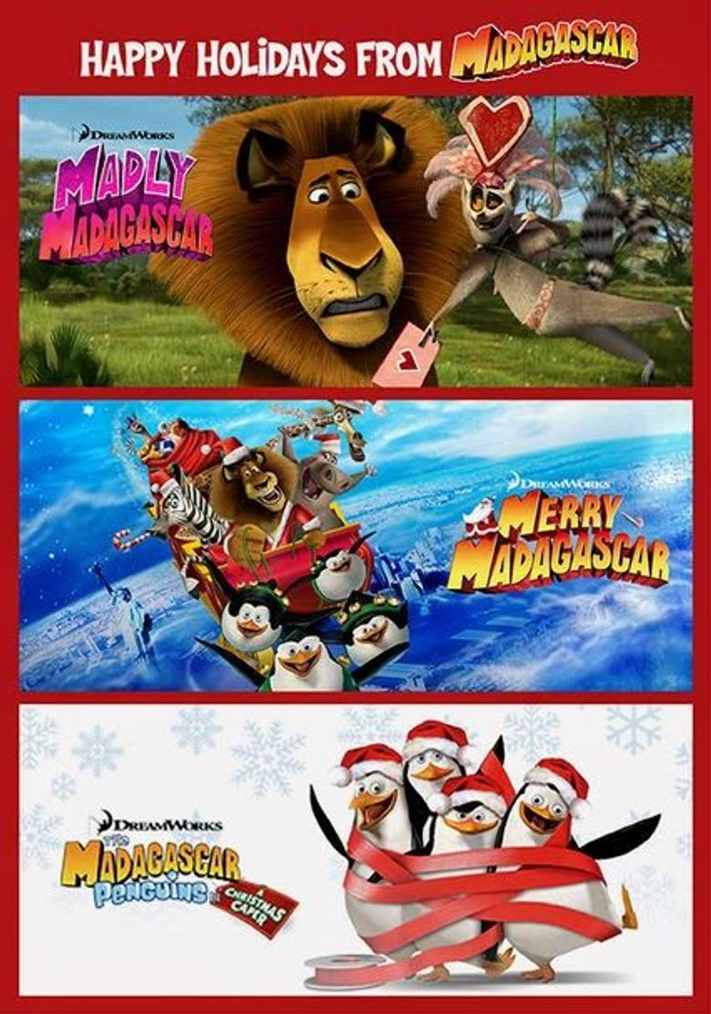 Dreamworks Happy Holidays from Madagascar Poster