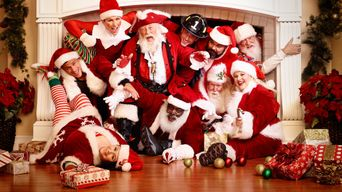 Santas in the Barn Poster