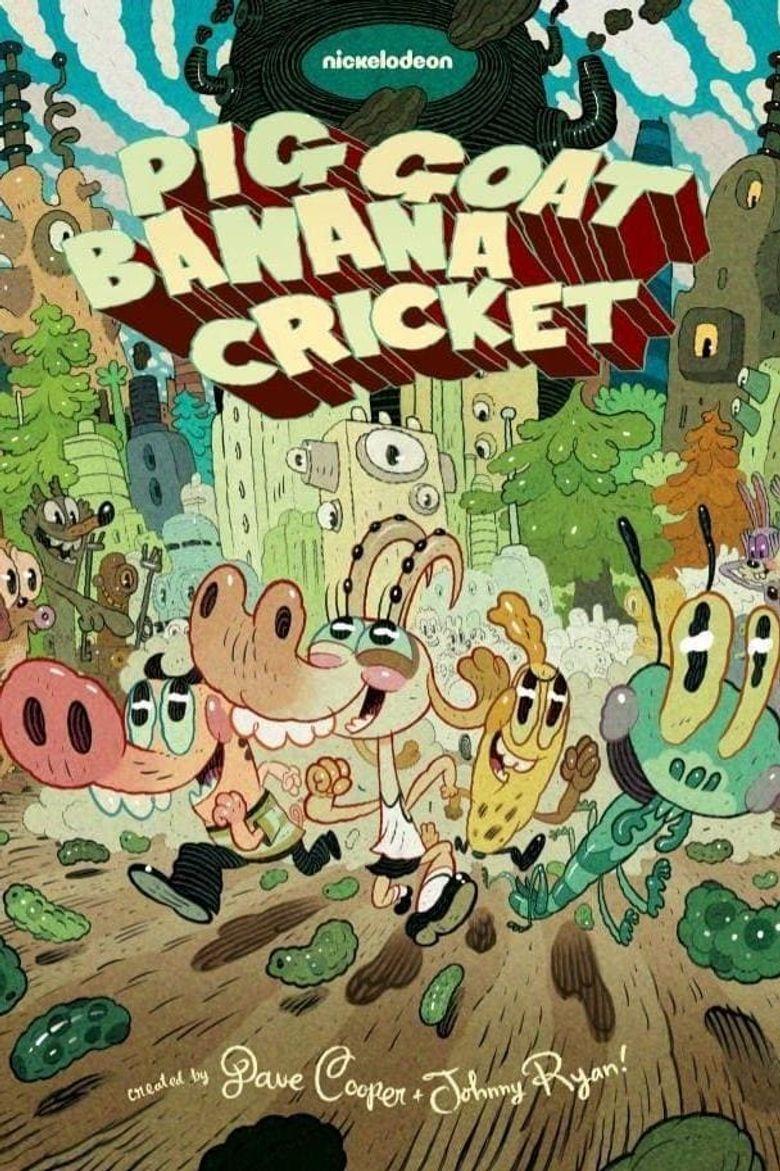 Pig Goat Banana Cricket Poster