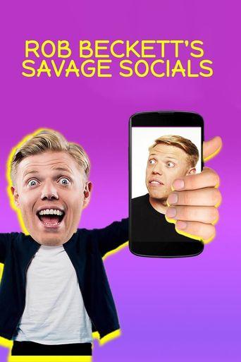 Rob Beckett's Savage Socials Poster