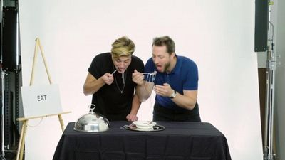 Season 01, Episode 10 Cameron Dallas Eats Bugs, Chicken Feet & Other Weird Stuff