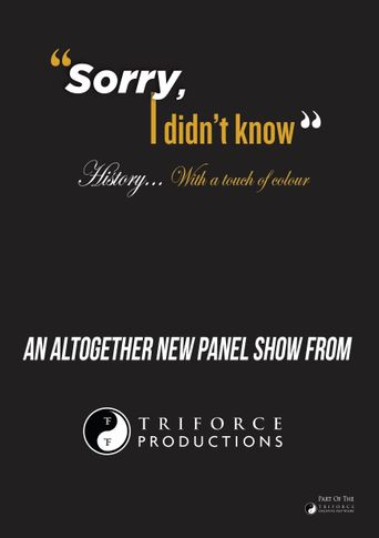 Sorry, I Didn't Know Poster