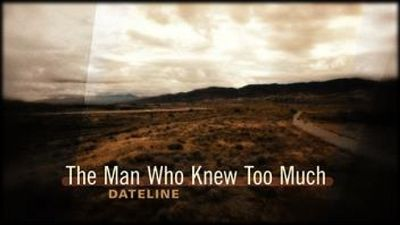 Season 2016, Episode 1111 The Man Who Knew Too Much