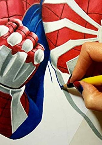 Drawing PS4 Spider-Man Poster