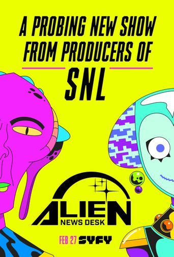 Alien News Desk Poster