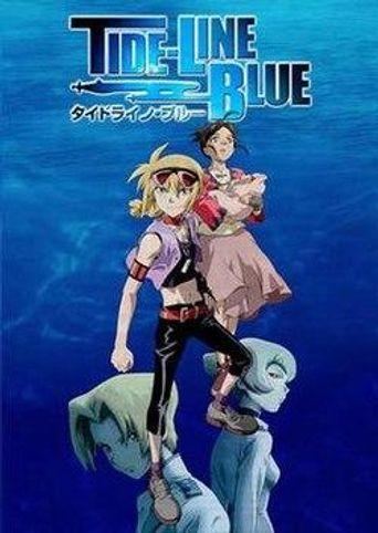 Tide-Line Blue Poster